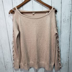 New! Garage Women's Dusty Pink Laced Up Sleeve